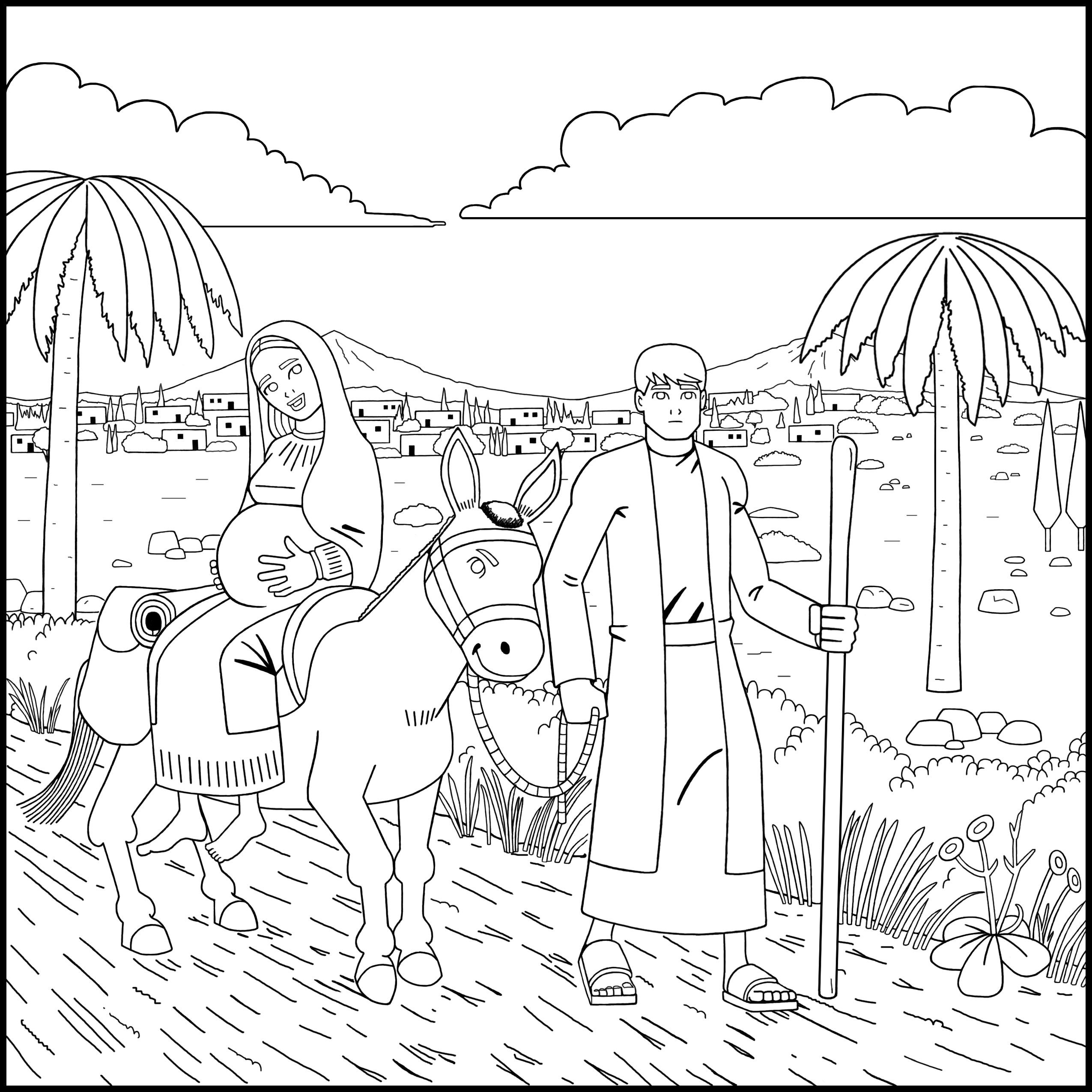 Christmas Jesus Coloring Book – Good Treasure Tales